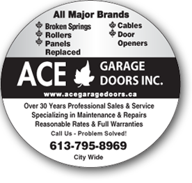 Ace Garage Doors advertisement